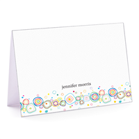 Circle Doodles  Fold-Over Note Card