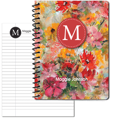 Flower Garden Large Personal Journal