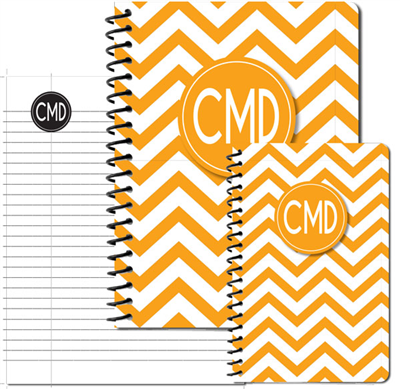 Modern Chevron Gold Journal Set