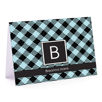 Elsa's Plaid Fold-Over Note Card