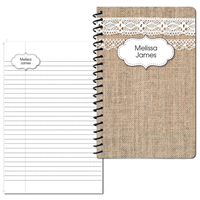 Burlap & Lace Small Personal Journal