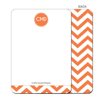 Modern Chevron Flat Notecard - Orange