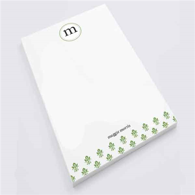 Green Damask Notepad