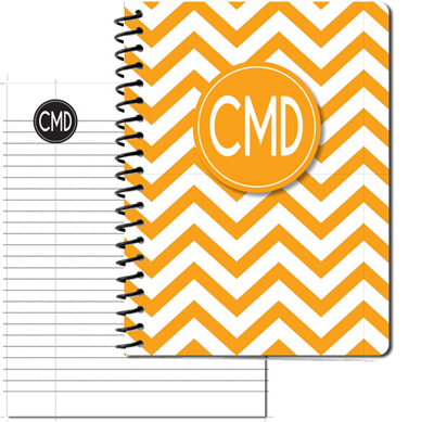 Modern Chevron Gold Large Personal Journal