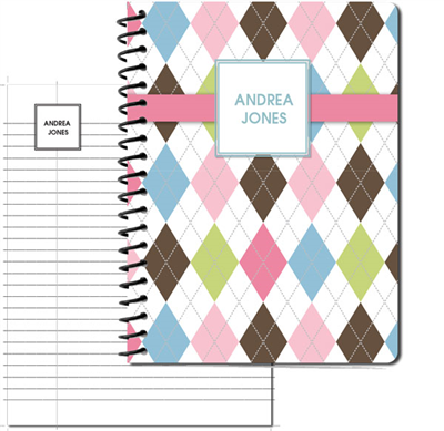Argyle Connie Large Personal Journal