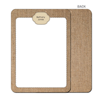 Burlap Fun Tan Flat Notecard