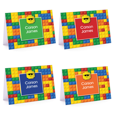 Building Blocks Set Fold-Over Note Card