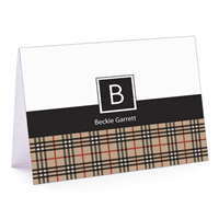 The BeeBerry Plaid - Fold Over Note Card