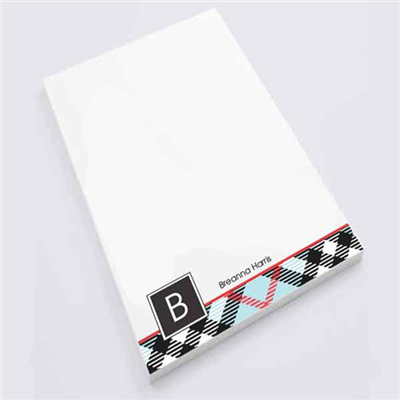 Peabody Plaid Personal Notepad