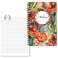 Pretty Poppy Small Personal Journal