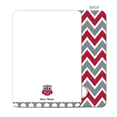 Who Dat Chevron Flat Notecard