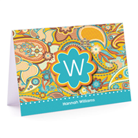 Marsha's Paisley Fold-Over Note Card