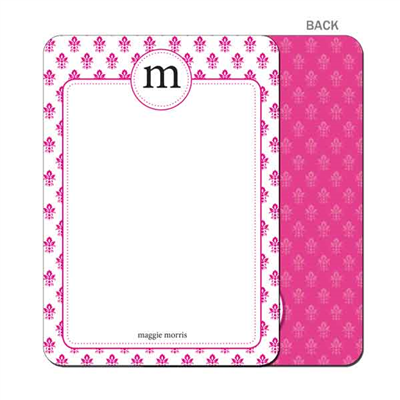 Damask - Pink - Flat Notecard