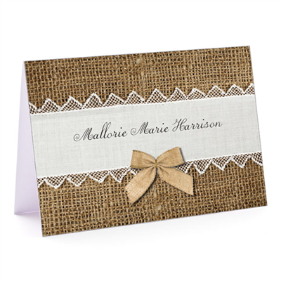 Rustic Elegance - Fold-Over Note Card