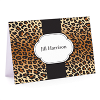 Leopard Fold-Over Note Cards