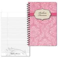 Vintage Pattern 01 Pink Small Personal Journal