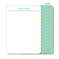 Sea Breeze Stripes - Flat Notecard
