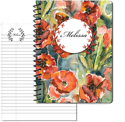 Pretty Poppy Large Personal Journal