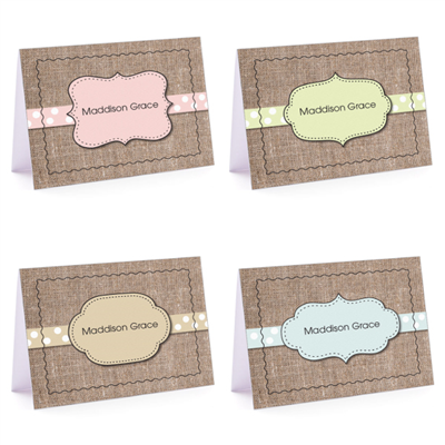 Burlap Fun Set - Fold-Over Note Card