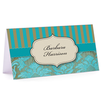 Tiny Note Turquoise Vintage Pattern 02