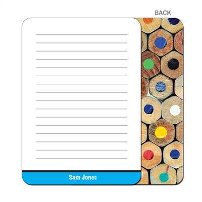 Colored Pencils - Blue Flat Notecard