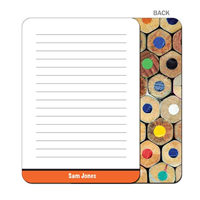 Colored Pencils - Orange Flat Notecard