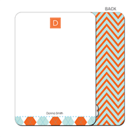 Chevron Fire & Ice Flat Notecard
