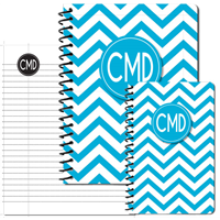 Modern Chevron Cyan Journal Set