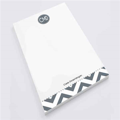 Modern Chevron Gray -  Personal Notepad