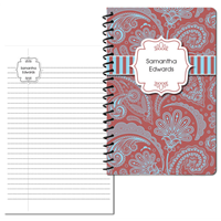 Marsala Paisley Small Personal Journal