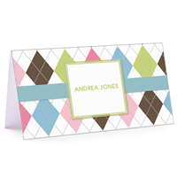 Tiny Note Argyle Connie - Blue & Green