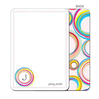 Hula Hoops Flat Notecard