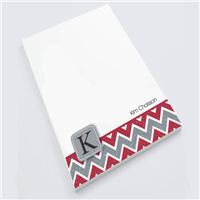 Red Chevron Notepad