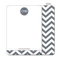 Modern Chevron Flat Notecard - Gray