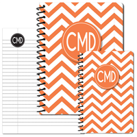 Modern Chevron Orange Journal Set